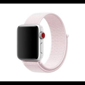 Breathable pink sport band for Apple watch 44 mm